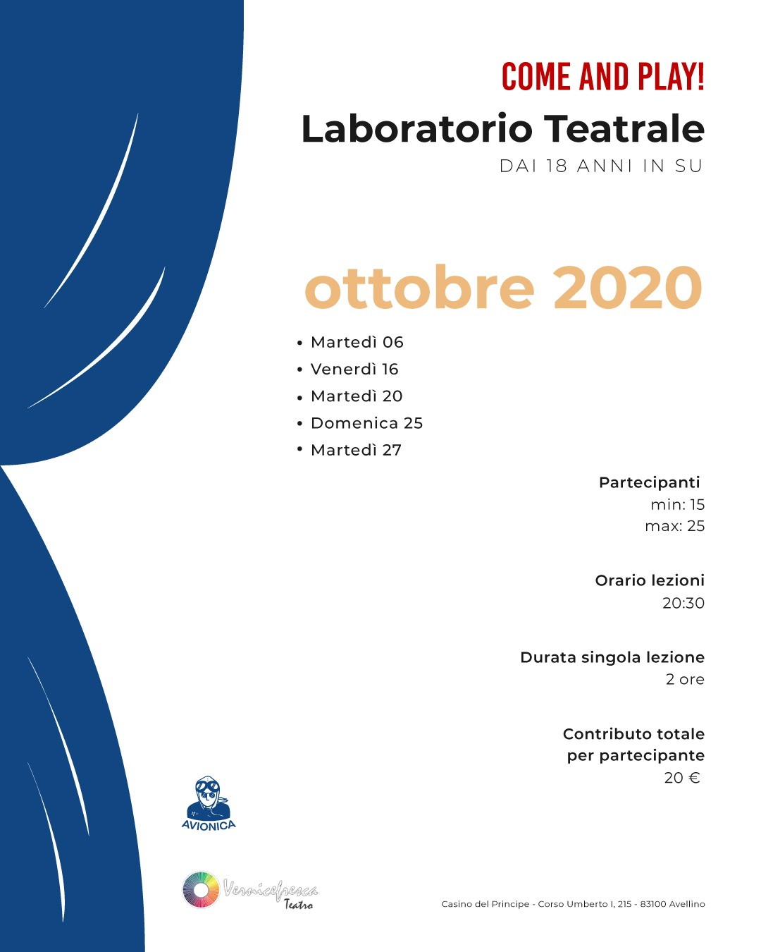 COME AND PLAY! – Laboratorio Teatrale in collaborazione con Avionica Avellino